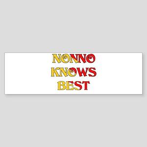 I Love Nonno Bumper Sticker