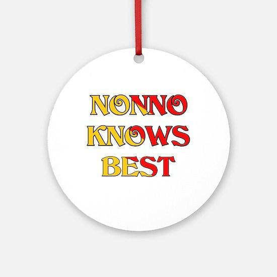 I Love Nonno Ornament (Round)