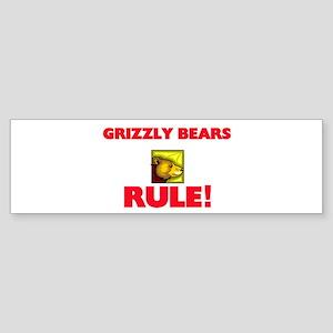 Grizzly Bears Rule! Bumper Sticker