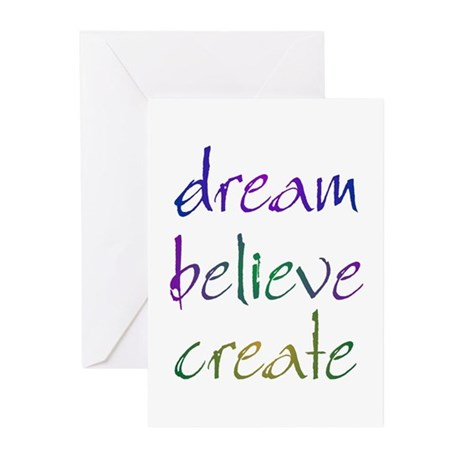 Dream Believe Create Greeting Cards (Pk of 10)