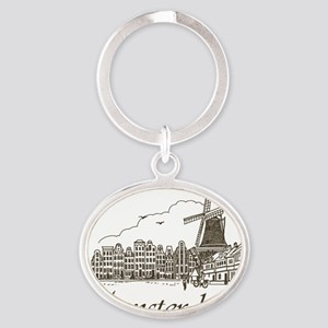 Vintage Amsterdam Oval Keychain