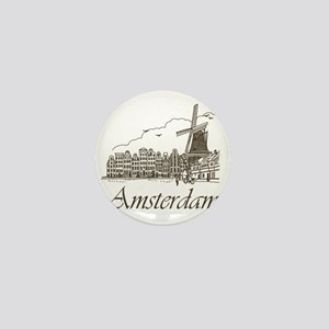 Vintage Amsterdam Mini Button