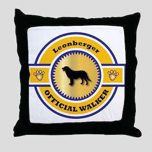 Leonberger Walker Throw Pillow