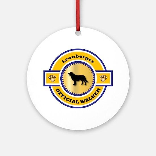 Leonberger Walker Ornament (Round)
