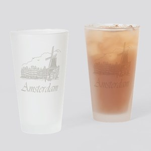 Vintage Amsterdam Drinking Glass