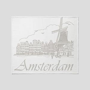 Vintage Amsterdam Throw Blanket