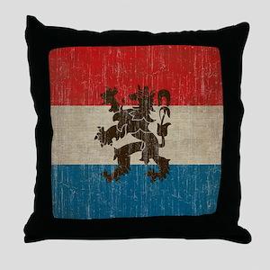Vintage Netherlands Flag Throw Pillow