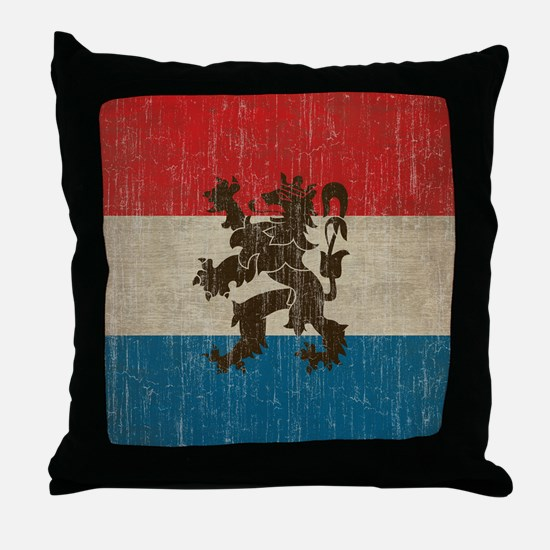 Vintage Netherlands Flag Throw Pillow