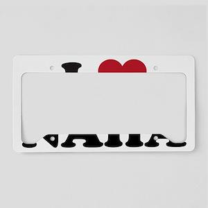 I Love Naha License Plate Holder