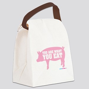 You Are What You Eat Pig Canvas Lunch Bag