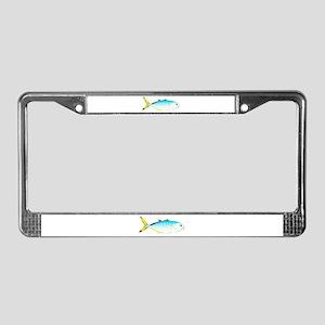 Blue Runner License Plate Frame
