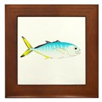 Blue Runner Framed Tile