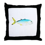 Blue Runner Throw Pillow