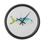Blue Runner Large Wall Clock