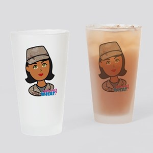 Woman Army Desert Camo Drinking Glass