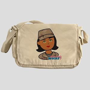 Woman Army Desert Camo Messenger Bag