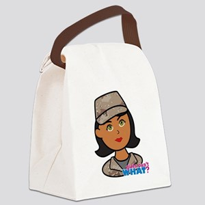 Woman Army Desert Camo Canvas Lunch Bag