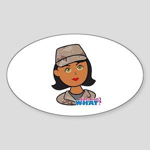 Woman Army Desert Camo Sticker (Oval)