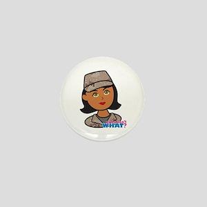 Woman Army Desert Camo Mini Button