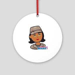 Woman Army Desert Camo Ornament (Round)