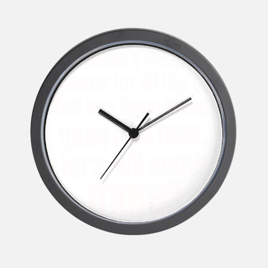 Minute silence Wall Clock