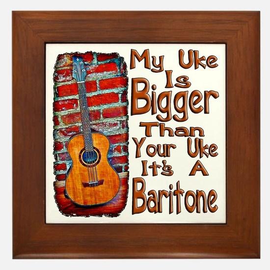Baritone Uke Framed Tile