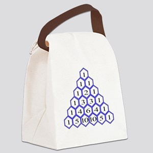 Pascals Triangle Canvas Lunch Bag