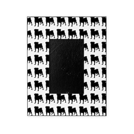 Pug Silhouette Flip Flops In Black Picture Frame