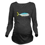 Blue Runner c Long Sleeve Maternity T-Shirt