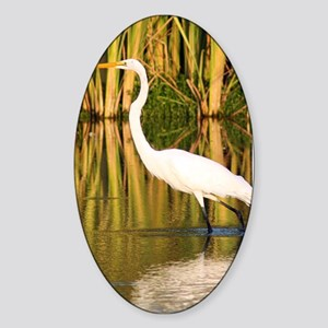 Egret Sticker (Oval)