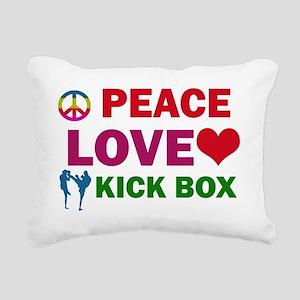 Peace Love Kickbox Rectangular Canvas Pillow