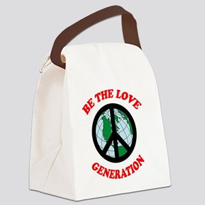 Be The Love Generation Canvas Lunch Bag