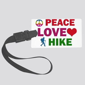 Peace Love Hike Large Luggage Tag