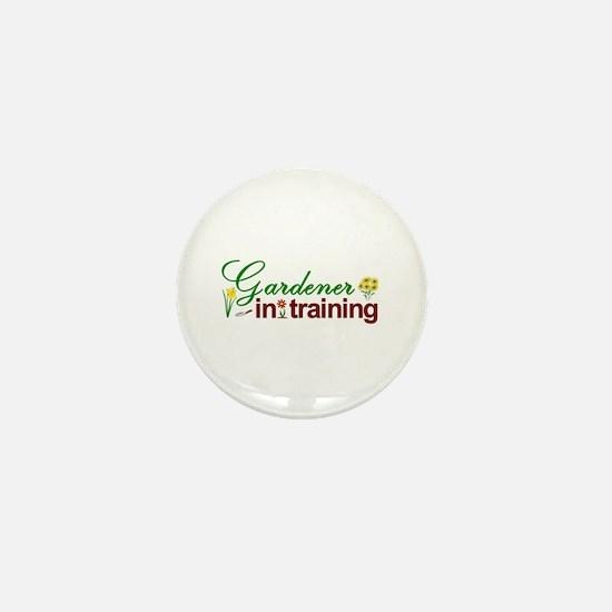 Gardener in Training Mini Button