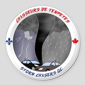 Logo Chasseurs de Tempetes Round Car Magnet