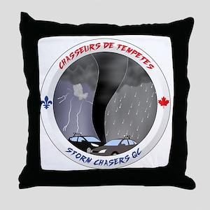 Logo Chasseurs de Tempetes Throw Pillow