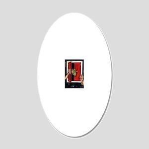 Self Portrait post card 20x12 Oval Wall Decal