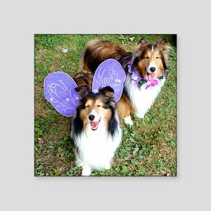 """Fairy Foos Square Sticker 3"""" x 3"""""""