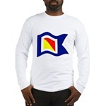 POYC Burgee Wave Wht Border Long Sleeve T-Shirt