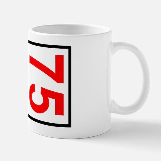 75 Autocross Number Plates Mug