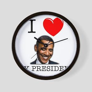 I Love My President Wall Clock