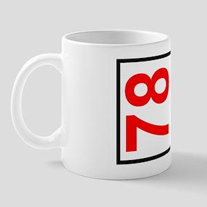78 Autocross Number Plates Mug