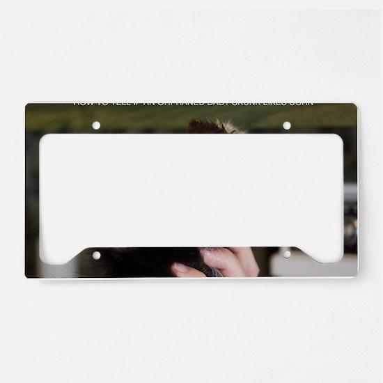 Peanut CORN License Plate Holder