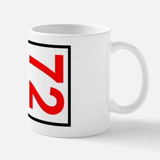 72 Autocross Number Plates Mug