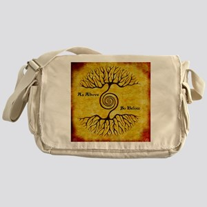 As Above So Below Color Print Messenger Bag