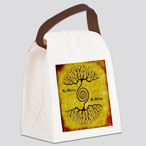 As Above So Below Color Print Canvas Lunch Bag