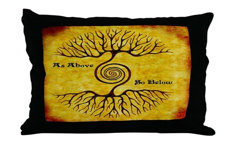 As Above So Below Color Print Throw Pillow