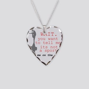 Meet Me on the Mat Necklace Heart Charm