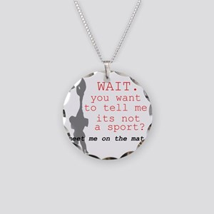 Meet Me on the Mat Necklace Circle Charm