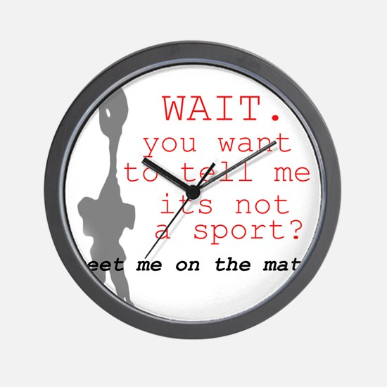 Meet Me on the Mat Wall Clock
